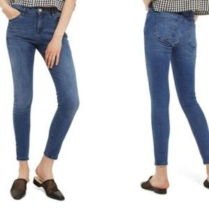 Topshop Moto Sidney Mid Rise Ankle Grazer Jeans
